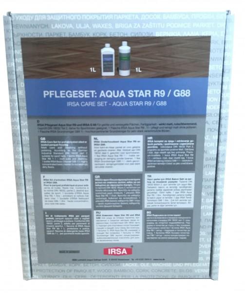 IRSA Pflegeset Nr. 6 - für versiegeltes oder geöltes Parkett, Fertigparkett, Böden, etc.